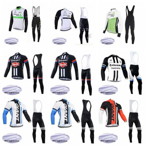 2020 Dimension Data géant Cycling Team hiver Thermal Fleece Jersey (BIB) pantalons Ensembles Respirant rapide Hommes CYCLISTE Clothesk011015