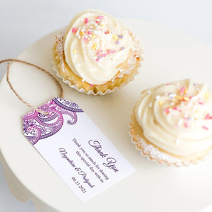 """Wedding Favor Tag """"Paisley"""" Personalized Wedding Tags Bridal Shower Gift Tables Candy Tags"""