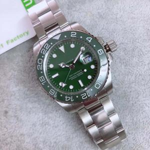 Новый продукт Горячие Продажа Качество Мужчины 3866 Автоматическое движение 116710 GMT Зеленый керамический Сапфир Зеленый циферблат браслет Часы Мужские часы Релох