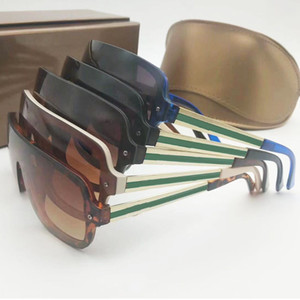 Óculos de sol quadro Big metal de uma peça para mulheres dos homens clássico Quadro Sun Glasses 100% de proteção UV Óculos 5 cores Face agradável Goggles