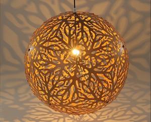 60 cm Bola de Madeira Coral Pingente de Luz Cordão Luminaria Moderna Estilo Japonês Rústico Pendurado Lustre Luminaria Sala de estar LLFA