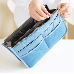 Bolsas de cremallera doble bolsa de cosméticos bolso de gran capacidad de almacenamiento de múltiples bolsillos componen el bolso de viaje Playa de tarjetas de Protable bolsa de los bolsos 2019 de regalo