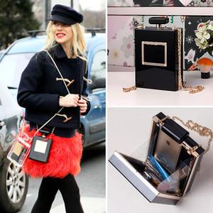 Heiße Girls New Fashion Style Persönlichkeit Parfüm Flasche geformt Frauen Taschen Mini-Geldbeutel Crossbody Handtaschen