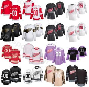 Detroit Red Wings de hockey sobre hielo 72 Andreas Athanasiou jerseys Golden Edition combate el cáncer 17 Filip Hronek 14 Robby Fabbri 51 Valtteri Filppula