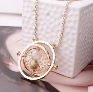 Горячие продать ожерелье песочные часы старинные кулон Гермиона Грейнджер золото серебро Ожерелье для женщин Леди девушка GB1516