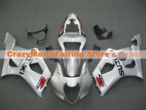 Neue Stil Spritzguss ABS Motorrad Verkleidungen Kits Fit für Suzuki GSXR1000 K3 2003 2004 GSXR-1000 03 04 Karosserie Set benutzerdefinierte Silber