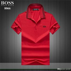 Moda Yaz Marka Erkekler polo gömlek t shirt yılan arı çiçek nakış erkek polos şerit Luxurys tasarımcılar baskı polo Tshirt