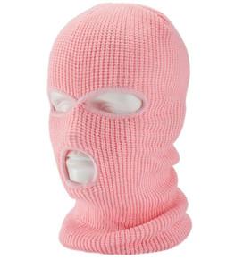 New Motos Rosto Windproof Máscara 3 buracos máscaras Quente Outdoor Sports Ski Caps bicicleta Balaclavas Cachecol Hat Cap rosto cheio máscaras de proteção capô