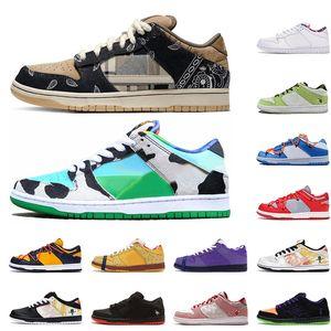 Hommes femmes Chaussures décontractées Chunky Dunky Ben Jerrys Dunk Stock x Baskets design Raygun Tie Dye Noir Hommes Baskets 36-45