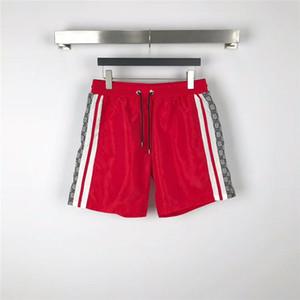 Calças Moda Masculina Verão Praia Shorts tecido impermeável desenhador Mens Swim Board Shorts rápida secagem Praia Homens Shorts Surf Runway Esporte