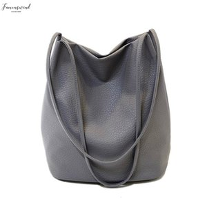 Fashion Women Leather Handbags Black Ladies Bucket Shoulder Bags Crossbody Women Hand Bags Large Capacity Ladies Shopping Handbag Bag