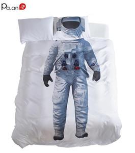 Microfiber Duvet Cover Set Boys Bedding Set Kids Bedroom Dorm Decorative Twin Size Space Exploration Space Walk Children Gifts