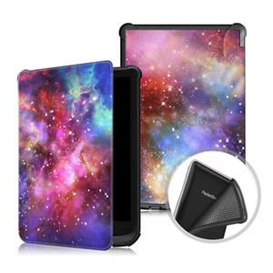PocketBook 616 6-Zoll-Smart-Auto-Schlaf aufwachen PU-Ledertasche weiche TPU-Rückseite für Pocketbook 627 632 Universal-E-Reader + Stift