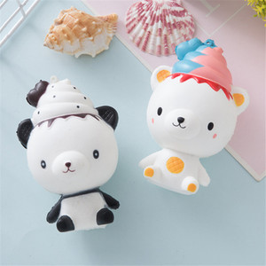 2020 Cute Squishy Soft Bear Toy Slow Rising Squeeze Simulation Decompression Jumbo Phone Strap Cartoon For Kids