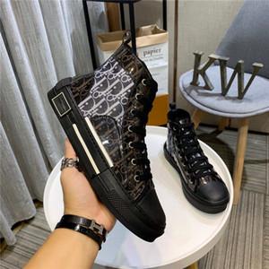 Dior 2020 neue Spitzen hochwertige Blumen technische Leinwand B2 B24 schräge Herren-Marke High-Top Sneaker Marke Designer-Schuhe Damen