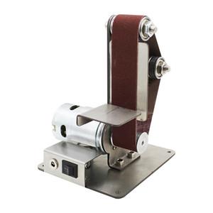 Mini Elétrico Correia Grinder DIY polimento máquina de moer máquina fixa Angle Grinder Lâmina Vertical desktop Retífica