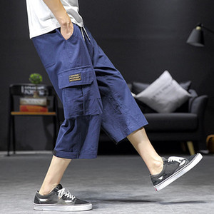 2019 New Summer Men Casual Harem Cozy armonizar Pantalones Jogger Pantalones Fitness Pantalones de lino sueltos Pantalons pour hommes