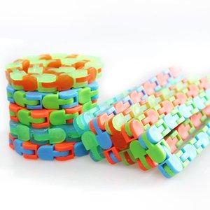 Niños Wacky Tracks Snap y haga clic en Fidget Toys DIY Kids Autism Snake Puzzles Sensory Educational DecomPression Toy
