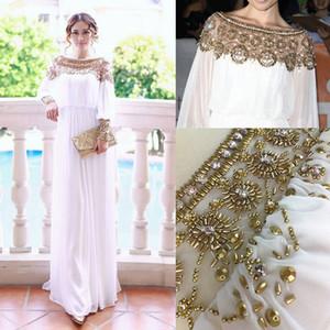 New Muslim Abaya Robe turque Vêtements pour femmes en mousseline de soie perlée lourd islamique musulman à manches longues robes Robe arabe marocaine