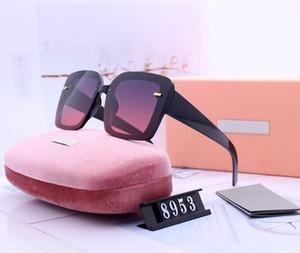 Womans Lentes de sol gafas de sol de lujo a estrenar plaza Adumbral anteojos de UV400 Modelo 8953 5 color de alta calidad con la caja