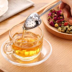 2 конструкции чая Infusers Love Heart Shaped Ложка чай Сито из нержавеющей стали Круче Ручка Плетеные Регулируемый Herb Вкладыш фильтра Чайные пакетики