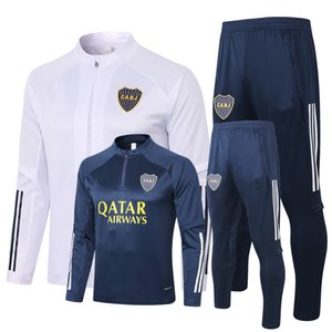 Survêtement Survêtement 2020 2021 l'ensemble de veste de survêtement Sweats à capuche Sets de football de football de Boca S-2XL