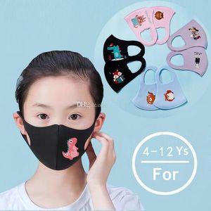 Cartoon-Maske für Kinder Mund Abdeckung PM2.5 Anti-Staub-Mund-Maske Respirator Staubdichtes Waschbar wiederverwendbare Gesichtsmasken 200 PC MK20