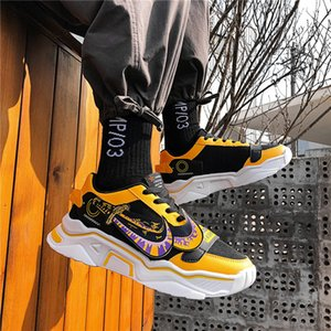 2020 new trend wild student sports shoes spring Hong Kong style old shoes men