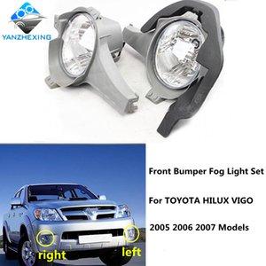 Brand New di alta qualità-Paraurti anteriore Fendinebbia Set con la lampadina 9006 12V 51W della lampada della nebbia WiringSwitch Per HILUX VIGO 2005-2007