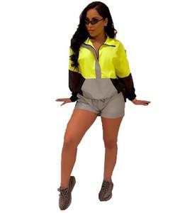 Womens Imposta Designer attivo tute sportive 3M riflettente Tuta cappotto casuale a maniche lunghe pantaloni di scarsità di donne sportive
