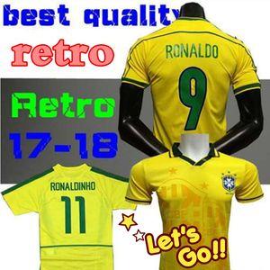 Retro Trikot 1998 Brasilien Heimtrikots 2002 Brasilien Retro Klassiker Trikots Carlos Romario Ronaldo Ronaldinho Trikot Fußballtrikot 1994