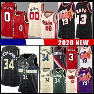 Giannis Damian Lillard Antetokounmpo Jersey Steve Nash McCollum Carmelo Anthony 00 MilwaukeeBuck PortlandTrilhaBlazer Buck