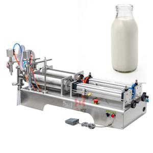 Máquina de llenado multifunción de 110V 220V para bebidas de aceite de oliva Blanco Vino de agua pura Salsa de soja Vinagre de doble cabezal líquido máquina de envasado