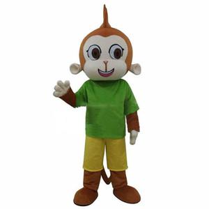 2019Hot Satış Yüksek Kalite Green Monkey Maskot Kostüm kıyafet Ücretsiz Shipping0