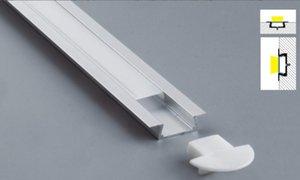 Libero di trasporto ha condotto il profilo della copertura del PC Con Serie Clip di montaggio Canale di alluminio con End Caps Led Strip Profile