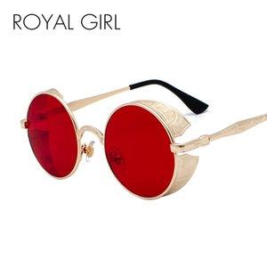 wholesale Steampunk Gothic Round Sunglasses Men Coating Mirrored Retro Vintage Sun Glasses Women Oculos Gafas Eyewear ss416