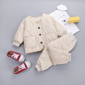 2010 Baby Girls boys Thick Warm Sweater Set Toddler Clothes Set Children Clothing Sets Kids Autumn Winter PARKAS Outfits Set T200707