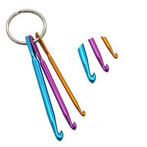 Simple Crochet Crochet en alliage métal couleur solide aiguille avec Aiguilles Porte-clés Bonneterie des ménages 3pcs pratiques Par Sets 1 5yn E1