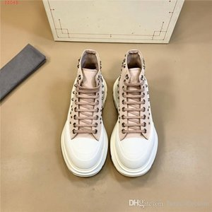 Rivet canvas shoes thick sole platform small white shoes men casual lace-up sport high top dad sneaker board shoes With box Size 38-44