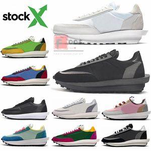 2020 nuevas mujeres de hombre Sacai LD Waffle LDV tejas de triple negro de nylon para hombre corredor formadores de calzado deportivo zapatillas de deporte con valores x Stockx ejecutan