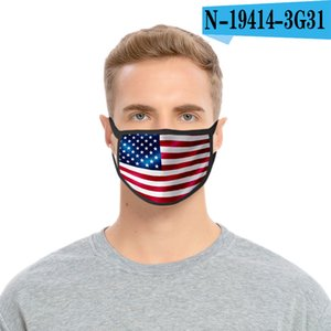 36styles 3D US Flag Mask American Independence Day Maschera maschere antipolvere lavabile 2020 Bocca calotta di protezione Modo GGA3511-3