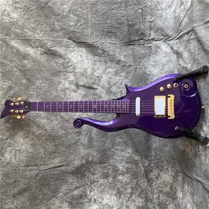 Бесплатная доставка электрогитара / фиолетовый серебряный порошок чужеродные красивые высококачественные гитары / настраиваемая китайская электрогитара