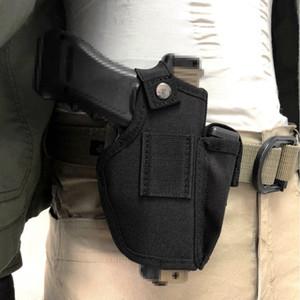 Tactics Gun Universal Holster main droite Molle étui de pistolet modulaire avec un sac magazine Convient à tous les pistolets compacts.