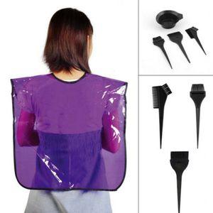 4 pcs 2018 New Black Plastic Hair Dye Coloração Escova Pente Tigela Ferramentas de Estilo de Cabeleireiro SH190729
