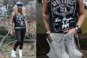 Guns N Rose Цветочные печати Женщины Топы готические тройники Streetwear Hipster Top Off Shoulder Punk Sexy Топы моды жилет корабль падения