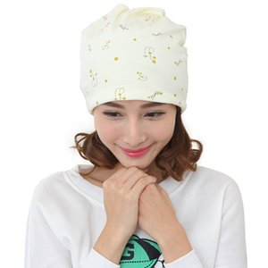 New fashion spring and summer months hat windproof hair care multifunctional flower cartoon pile pile hat soft and comfortable