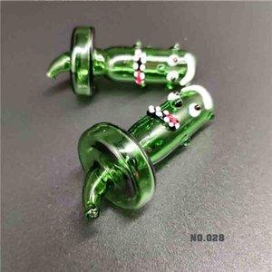 Heiße populäre neue Art Gurke Monster Glas Blase Carb-Kappe für Flat Top-Quarz-Nagel-Glasbongs Rauchen yy