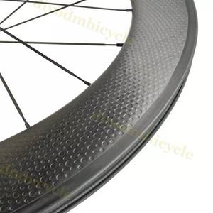 탄소 도로 바퀴 트랙 브레이크 플랫 - 스포크 딤플 에어로 그리고 R36 자유 스티커 클린 처 관 딤플 700C (50) 80mm 탄소 25mm 폭