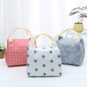 Multi-function insulation and flower color lunch bag Portable lunch storage ice bag lunch box bag JXW239