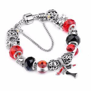 2020 direct selling high heels lipstick skirt three piece Pendant Chain woman snakes chain P Bracelet woman jewelry